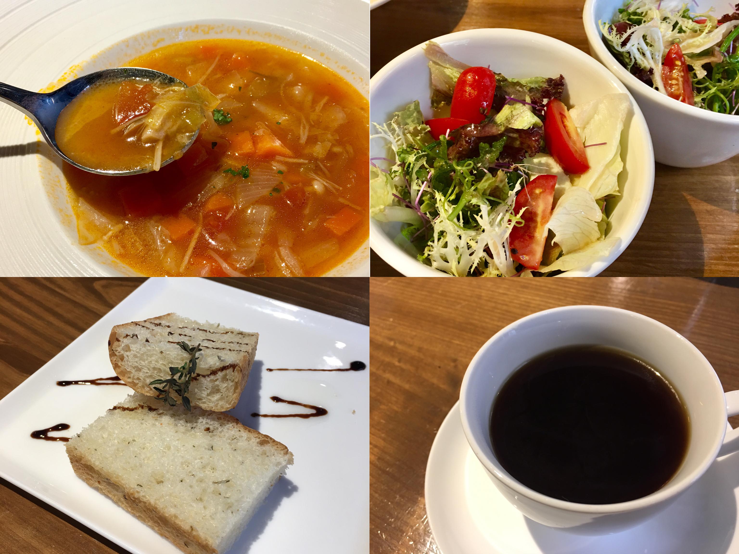 JK STUDIO新義法料理,商業午餐的附餐很豐盛